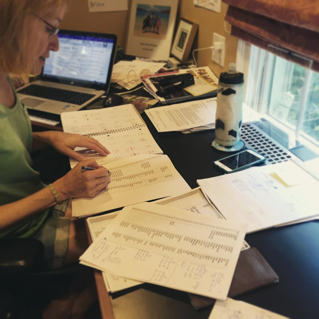 Golf tournament is in 2 days!! Karen is hard at work getting ready